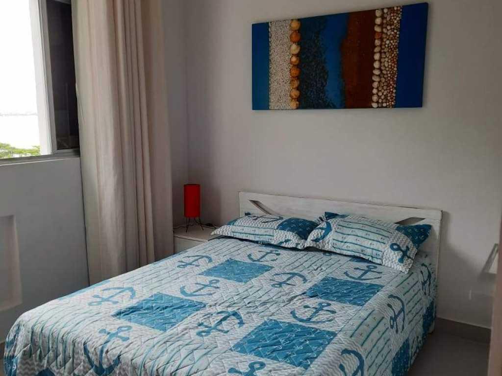 Lindo apartamento quarto e sala pé na areia vista para o mar