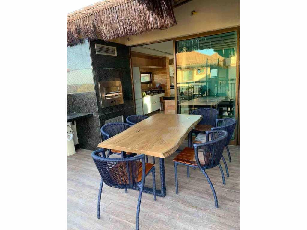Bangalo 05 duplex luxo p/ alugar temporada Aquiraz vista mar - praia