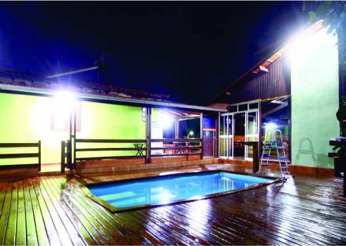 Sítio dos Guimarães com piscina aquecida