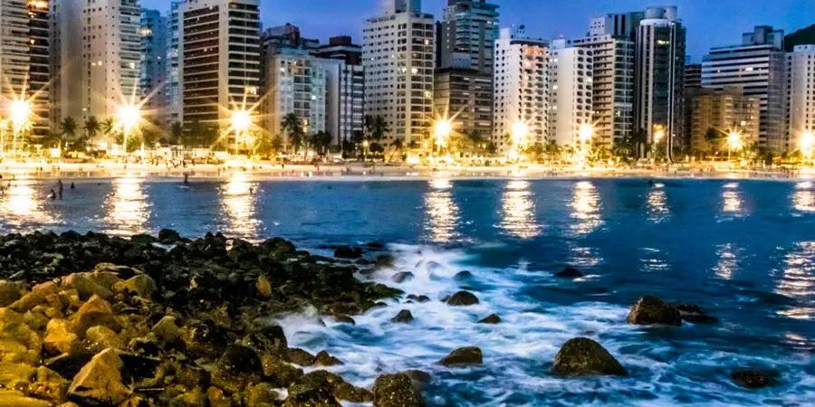 Guarujá, uma das praias mais visitadas do litoral paulista
